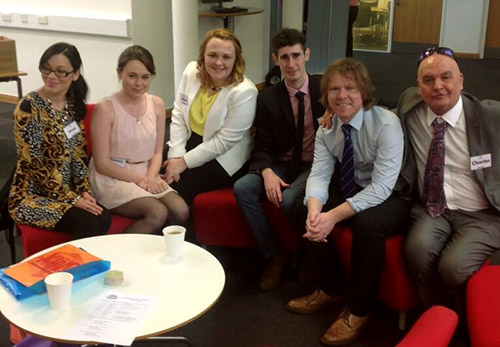 Last year's Flux team: Alana, Yasmin, Helena, James, Kevin and Charles