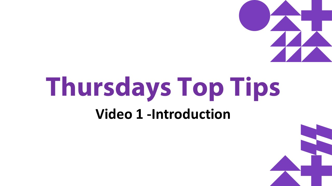 Thursdays Top Tips Thumbnails