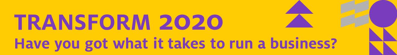 Transform 2020 event banner